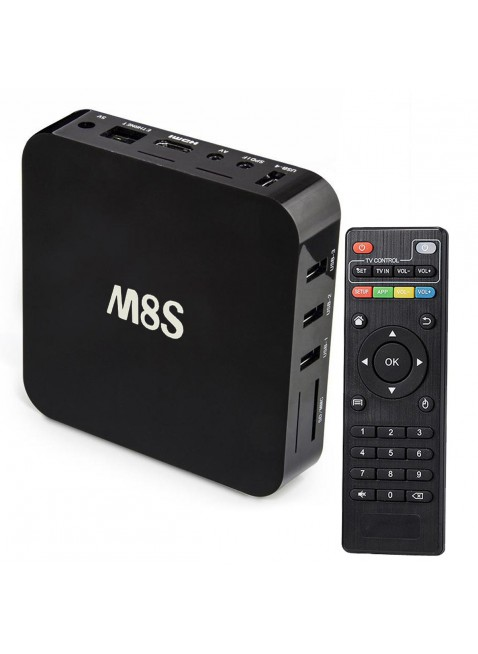 Android TV Box Smart M8S Kodi Quad Core 4K