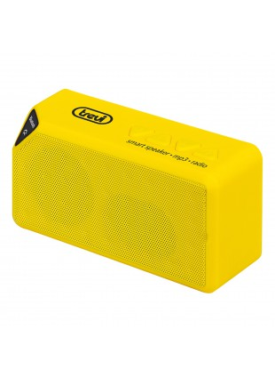 CASSA PORTATILE MINI ALTOPARLANTE CASSE BLUETOOTH RADIO LETTORE MP3 GIALLO TREVI