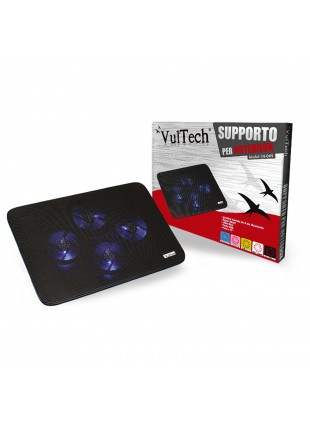 SUPPORTO PER NOTEBOOK VENTOLA VULTECH COMPUTER PC PORTATILE RAFFREDDAMENTO 15,6""