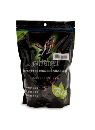 Busta 1 Kg 5000 Pallini Verdi Softair Biodegradabili 0,20 Gr 6 mm Js-Tactical