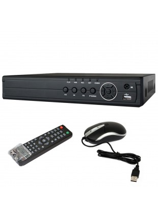 Dvr 8 Ch Canali per Videosorveglianza H264 HD VGA HDMI Cloud CCTV Iphone Android