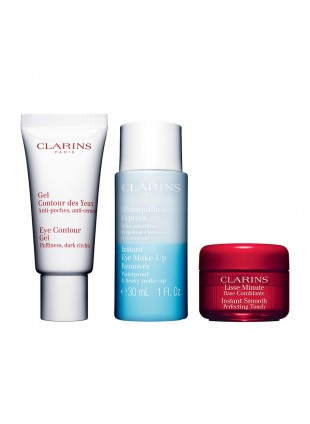 Clarins Kit Eye Essentials Gel contorno Occhi struccante Base Levigante