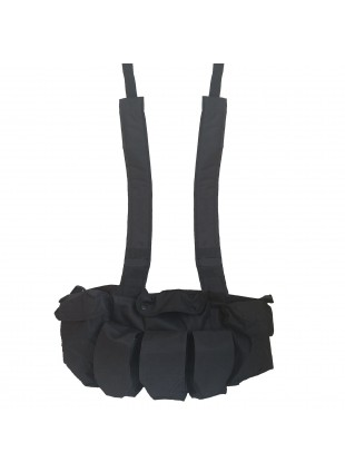 Giubotto Gilet Tattico Militare Nero Chest Rig per Softair in Cordura